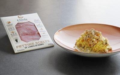 Tagliolini al ragù e crema di tartufo